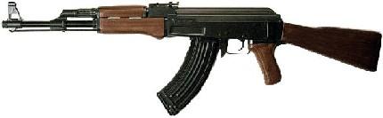 Всемирно известное русское чудо АК-47, которое определяет, очевидно еще на многие годы, методы отношений между народами с разными культурами